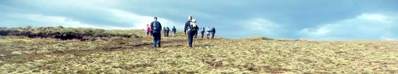 Sliabh Liag walkers, County Donegal